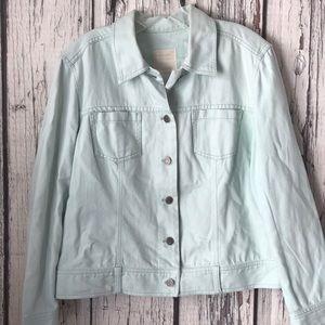 J.Jill mint colored Denim Jacket size medium